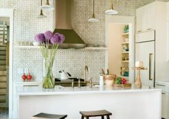 Kitchen Backsplash No Upper Cabinets houzz is in the house | megan pesce interiors
