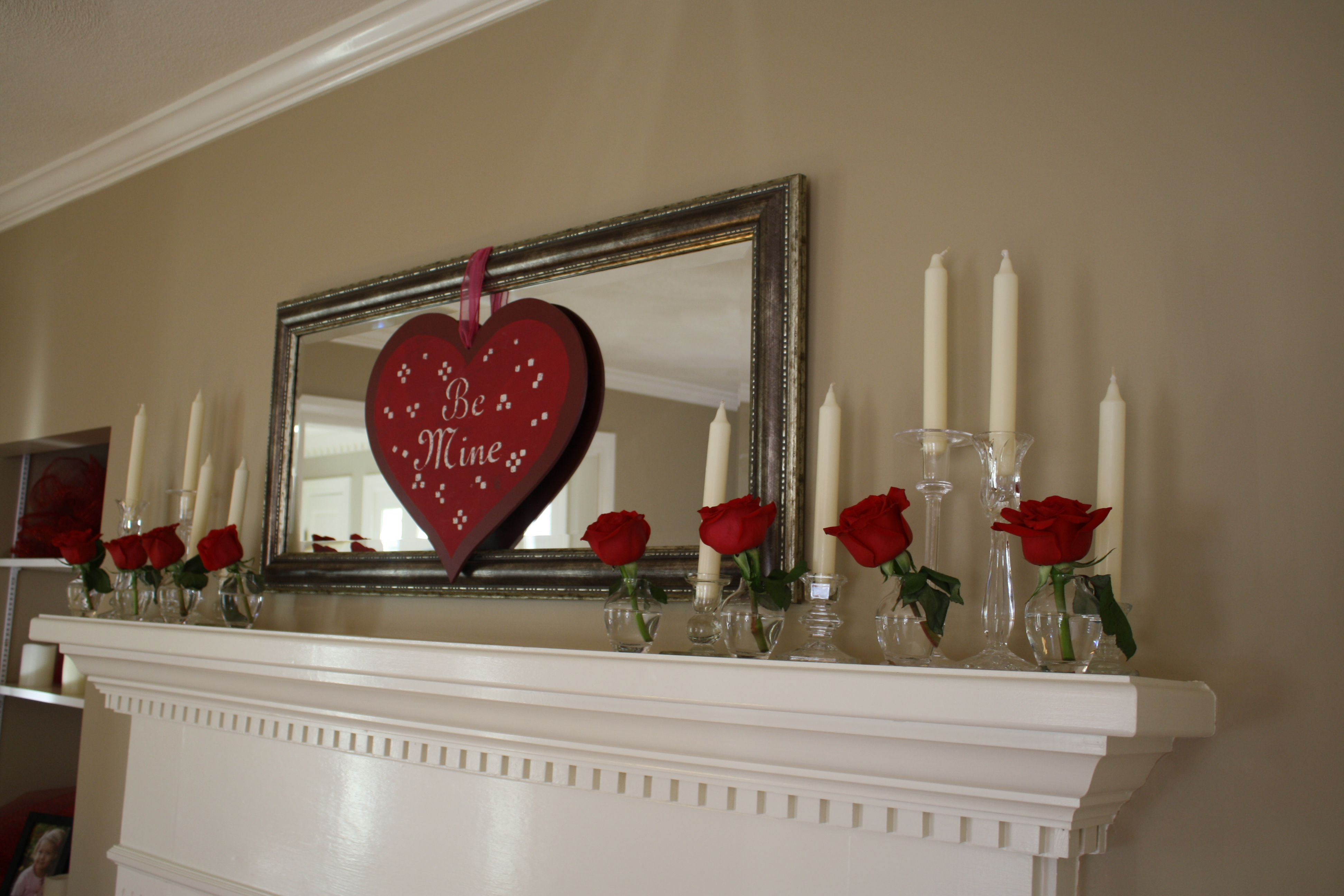 Bedroom decorating ideas for wedding night - In The Formal Living Room I Used Crystal Candle Sticks And Bud Vases For A Simple Elegant Design