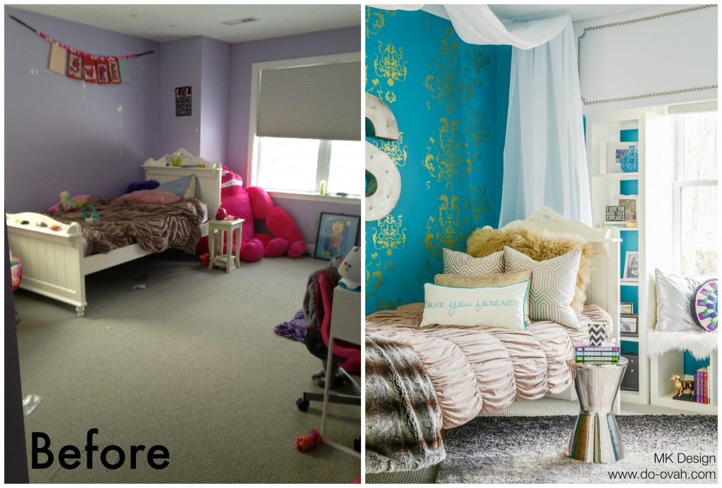 Tween Bedroom DoOvah Before and After